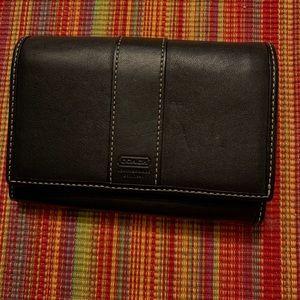 Vintage Coach Wallet - Black - Bifold